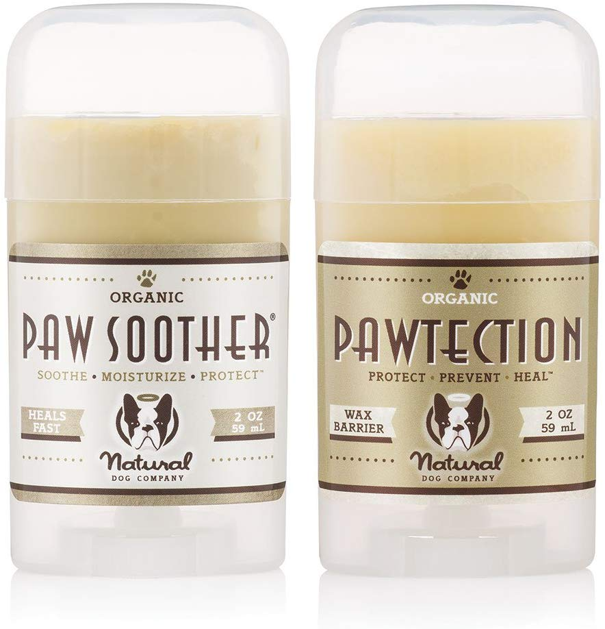 natural dog company paw soother and pawtection dog mom guide